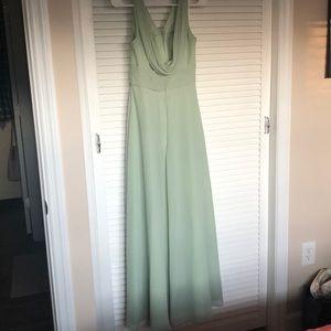 Azazie Sage Green bridesmaids dress